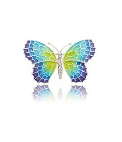 Broszka duży motyl Menorca srebro