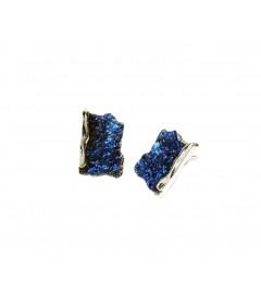 Kolczyki INTENZZA małe Electric Blue srebro