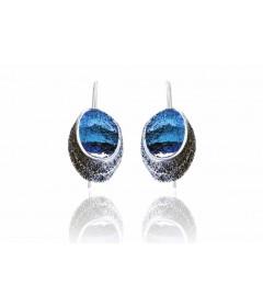 Kolczyki SINERA Formentera Blue srebro