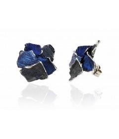 Kolczyki SUMMUM duże Blue srebro