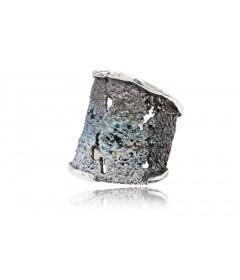 Pierścionek INTENZZA duży Gris srebro