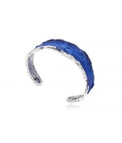 Bransoletka INTENZZA średnia Electric Blue srebro