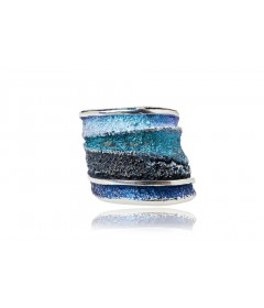 Pierścionek SINERA Formentera Blue srebro